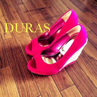 デュラス(DURAS)のDURAS オープントゥパンプス(ハイヒール/パンプス)