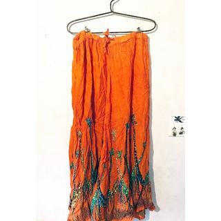 エルロデオ(EL RODEO)の新品/EL RODEO/サバンナキリン柄スカート(ロングスカート)
