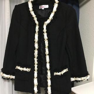 アン(an)のan パール付きジャケット(ノーカラージャケット)