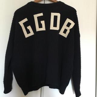 ゴールデングース(GOLDEN GOOSE)のgolden goose ロゴニット ワッペン M ゴールデングース(ニット/セーター)