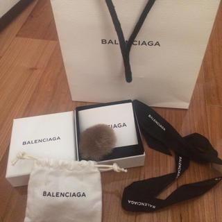 バレンシアガ(Balenciaga)のバレンシアガBALENCIAGA Fur Button ringファーリング(リング(指輪))