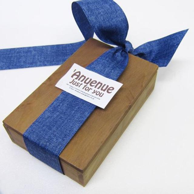 デニムリボン ブルー 40mm× 2m ハンドメイドの素材/材料(生地/糸)の商品写真