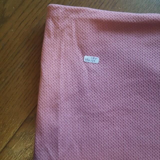 サーモンピンク ニット生地 ハンドメイドの素材/材料(生地/糸)の商品写真