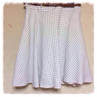 ハニーズ(HONEYS)のギンガムチェックのミディ丈スカート(ひざ丈スカート)