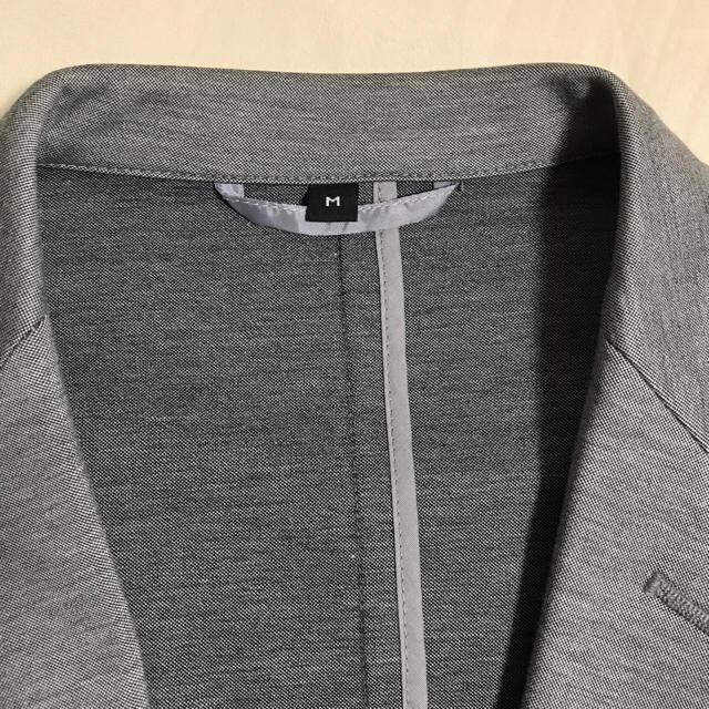MUJI (無印良品)(ムジルシリョウヒン)の無印 ジャージージャケット ライトグレー M メンズのスーツ(スーツジャケット)の商品写真