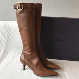 プラダ(PRADA)の新品未使用 PRADA ブーツ ブラウン / サイズ38 プラダ(ブーツ)
