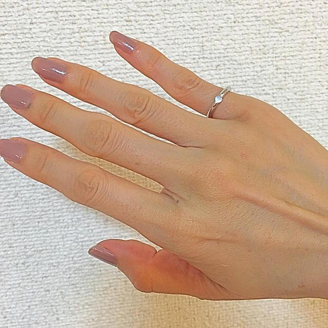 ブルームーンストーン ピンキーリング レディースのアクセサリー(リング(指輪))の商品写真