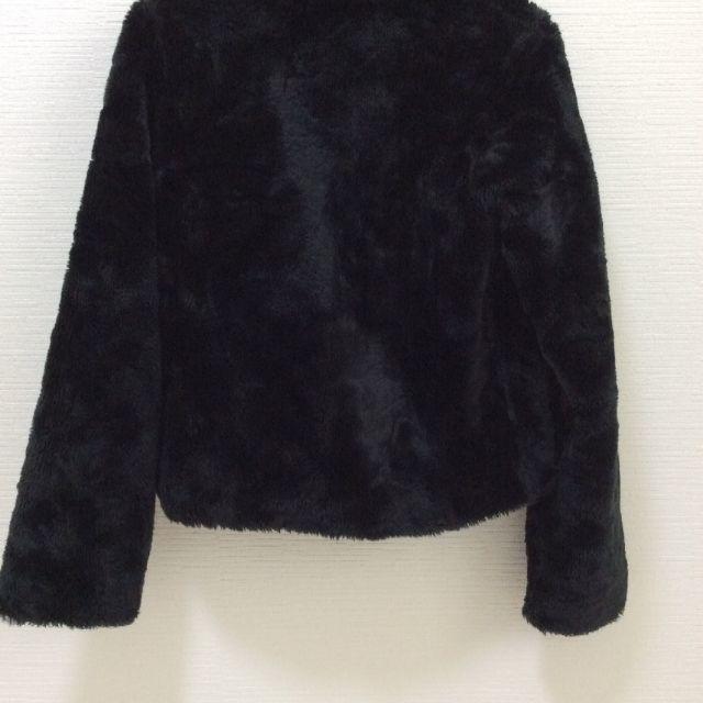 【送料込み】フェイクファー ブラック ライダースジャケット レディースのジャケット/アウター(ライダースジャケット)の商品写真