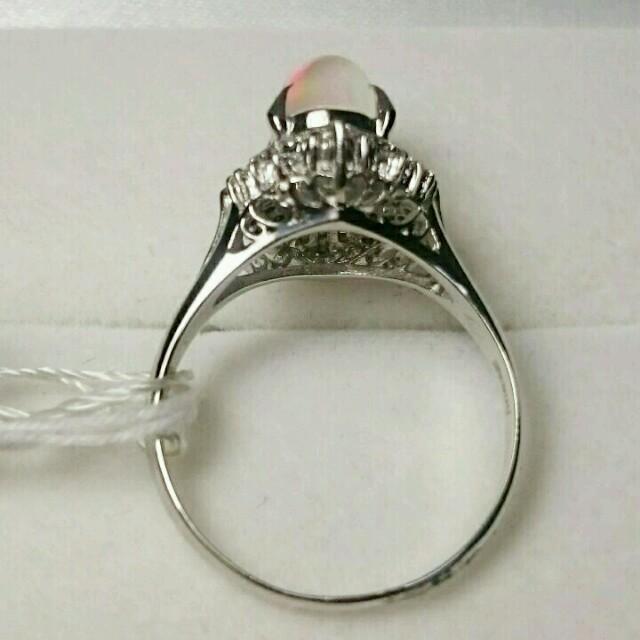 ★セール中★Pt900オパール&ダイヤリング レディースのアクセサリー(リング(指輪))の商品写真