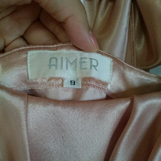 AIMER(エメ)のAimer クリーニング済 華やかピンクのパーティードレス レディースのフォーマル/ドレス(ミディアムドレス)の商品写真