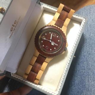 bab309cbe0 キットソン(KITSON)のkitson☆木製バイカラーメンズ時計-美品 作動(