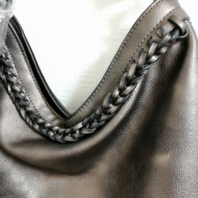 H.P.FRANCE(アッシュペーフランス)の大容量 ビジネスバッグ ハンドバッグ A4 お仕事 ブラウン 肩掛け 茶色バッグ レディースのバッグ(トートバッグ)の商品写真