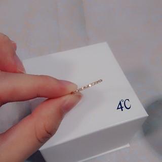 ヨンドシー(4℃)の専用です◎4℃ K18ハーフエタニティピンキーリング(リング(指輪))