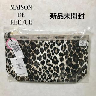 メゾンドリーファー(Maison de Reefur)の新品 メゾンドリーファー レスポートサック ポーチ レオパード バッグ(ポーチ)