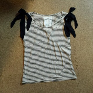 ミスティウーマン(mysty woman)のミスティーウーマンボーダーリボンT(Tシャツ(半袖/袖なし))