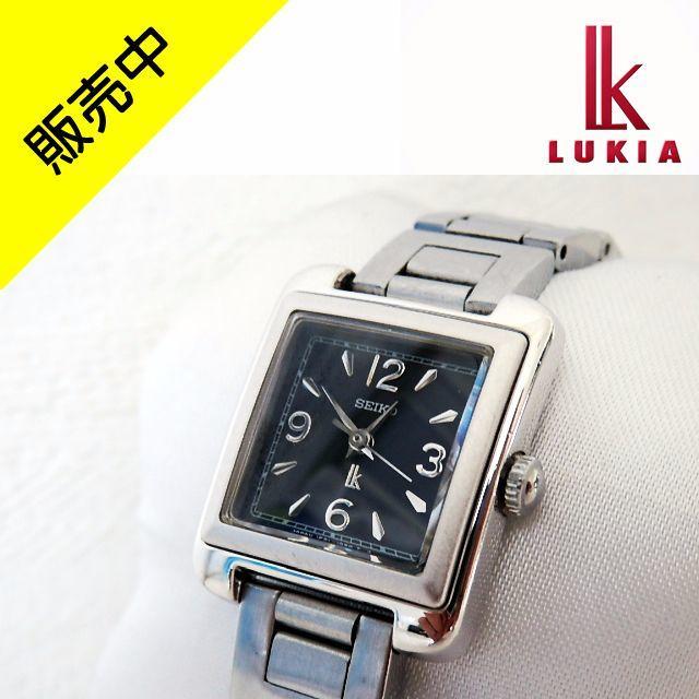 良品 セイコー ルキア 黒 電池新品 ベルト洗浄済 完動品 レディースのファッション小物(腕時計)の商品写真