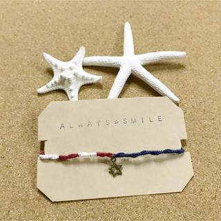 アメリカ 星条旗 アンクレット ブレスレット ミサンガ(ブレスレット)