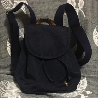 ラルフローレン(Ralph Lauren)のラルフローレン 美品 キッズ リュック ネイビー 1-3歳 牛革 日本製(その他)