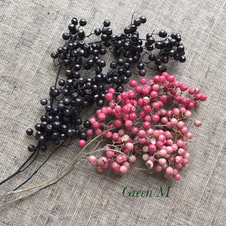 39番✳︎ペッパーベリー20gセット・ピンク&ブラック☆送料無料(各種パーツ)