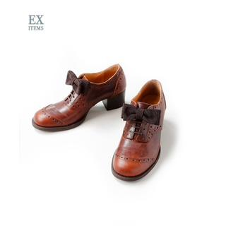 ジェーンマープル(JaneMarple)の【新品】JaneMarple*オペラリボンのウイングチップシューズLsize(ローファー/革靴)