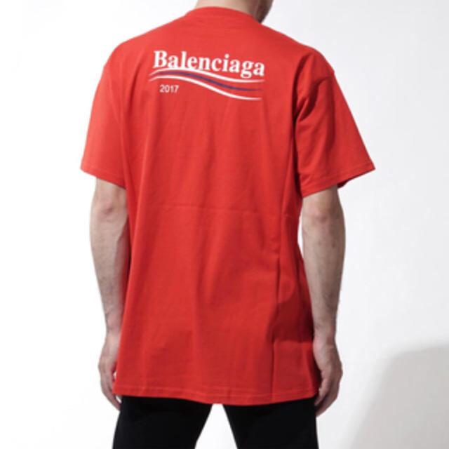 Balenciaga(バレンシアガ)のBALENCIAGA 2017AW キャンペーンロゴTシャツ 赤 XS メンズのトップス