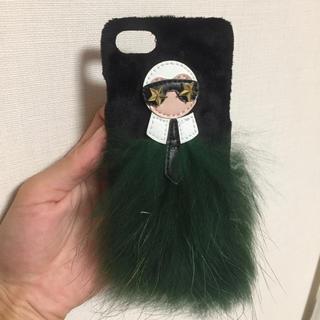 iPhone7ケース★カールラガーフェルド?ファー
