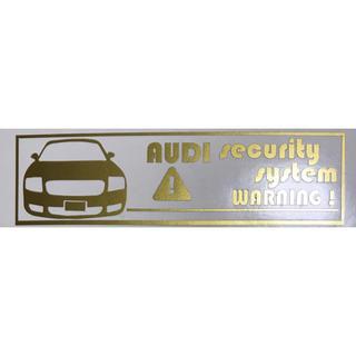 アウディ(AUDI)の専用反転2枚アウディ TT セキュリティステッカー(セキュリティ)