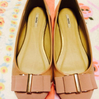 ランダ(RANDA)のRANDA♡リボンフラットシューズL(ローファー/革靴)