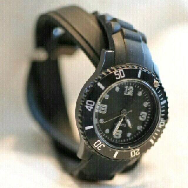 腕時計⌚《黒》 レディースのファッション小物(腕時計)の商品写真