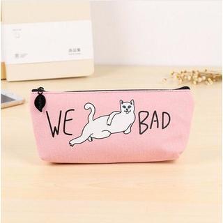 ねこ ネコ 猫ペンケース WE BAD! ピンク 新品未使用品(猫)