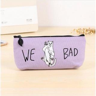 ねこ ネコ 猫ペンケース WE BAD! パープル♪ 新品未使用品(猫)