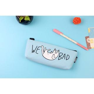 ねこ ネコ 猫ペンケース 猫筆箱 WE BAD! ブルー 新品未使用品(猫)