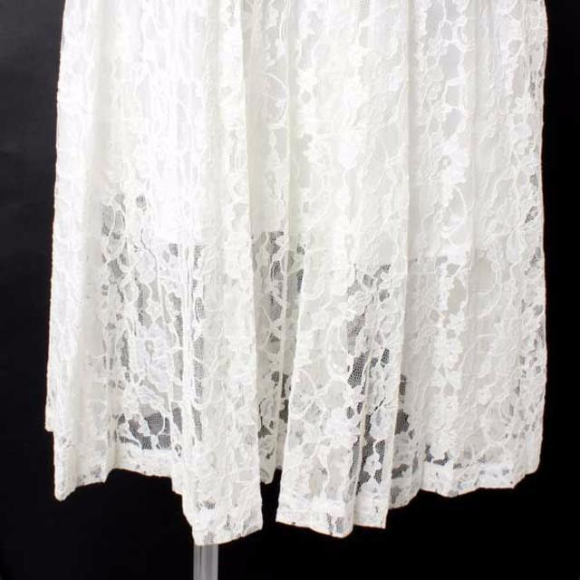 deicy(デイシー)のdeicy プリーツレーススカート size0 ホワイト 133354 デイシー レディースのスカート(ひざ丈スカート)の商品写真