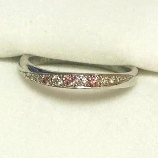 pt900 天然ピンクダイヤ ダイヤモンド リング 指輪 #9 マリッジ(リング(指輪))