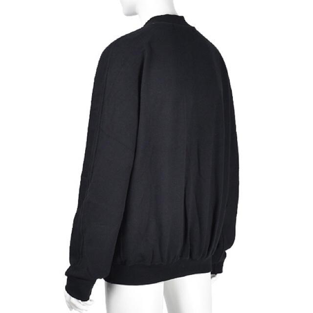 新品オーバーサイズプルオーバーラグランシンプルスウェットトレーナー黒BLACK メンズのトップス(スウェット)の商品写真