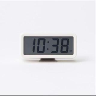 ムジルシリョウヒン(MUJI (無印良品))のデジタル時計・小(アラーム機能付) 掛置時計・ホワイト(置時計)