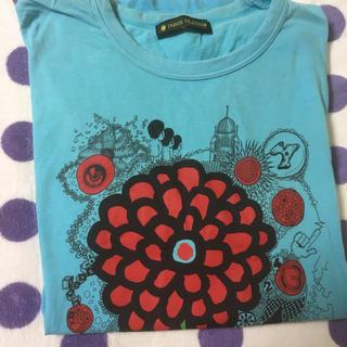 24時間Tシャツ 嵐(Lサイズ)ブルー(Tシャツ/カットソー(半袖/袖なし))