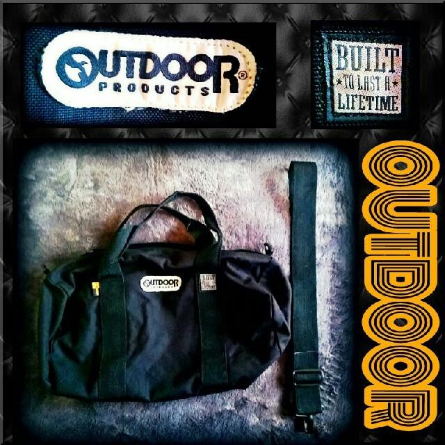 【OUTDOOR】ドラムバック《黒》 レディースのバッグ(ボストンバッグ)の商品写真