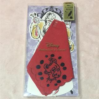 ディズニー(Disney)のブルーミング中西ディズニーメッセージカード&ミニハンカチ(カード/レター/ラッピング)