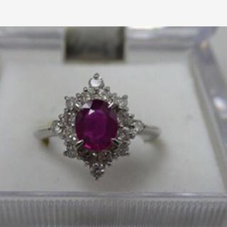 ルビー ダイヤモンド プラチナ リング 超美品💖 8.5号(リング(指輪))