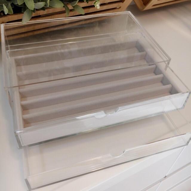 MUJI (無印良品)(ムジルシリョウヒン)の無印良品 無印 アクリルケース クリアケース ピアスラック アクセサリーケース インテリア/住まい/日用品のインテリア小物(小物入れ)の商品写真