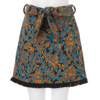 ムルーア(MURUA)のrug flower mini スカート(ミニスカート)