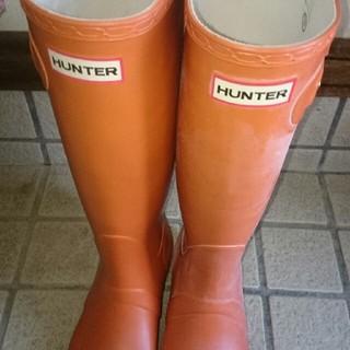 ハンター(HUNTER)の1回使用。hunterパンプキン。(レインブーツ/長靴)