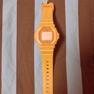 ベビージー(Baby-G)のBaby-G黄色時計クラシック(腕時計)
