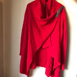 ラルフローレン(Ralph Lauren)のラルフローレン Ralph Lauren 赤ニットポンチョ 赤 (ポンチョ)