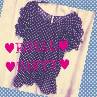 ロイヤルパーティー(ROYAL PARTY)のロイヤルパーティ♥︎透けトップス(カットソー(半袖/袖なし))