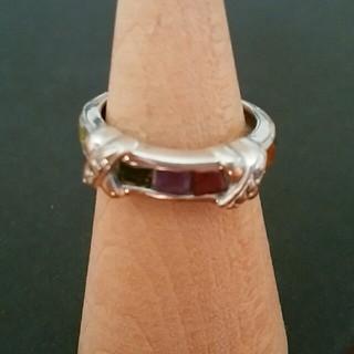 マルチカラー ラインストーン リング 指輪(リング(指輪))