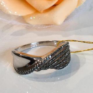 k18 ホワイトゴールド ブラックダイヤモンド リング(リング(指輪))