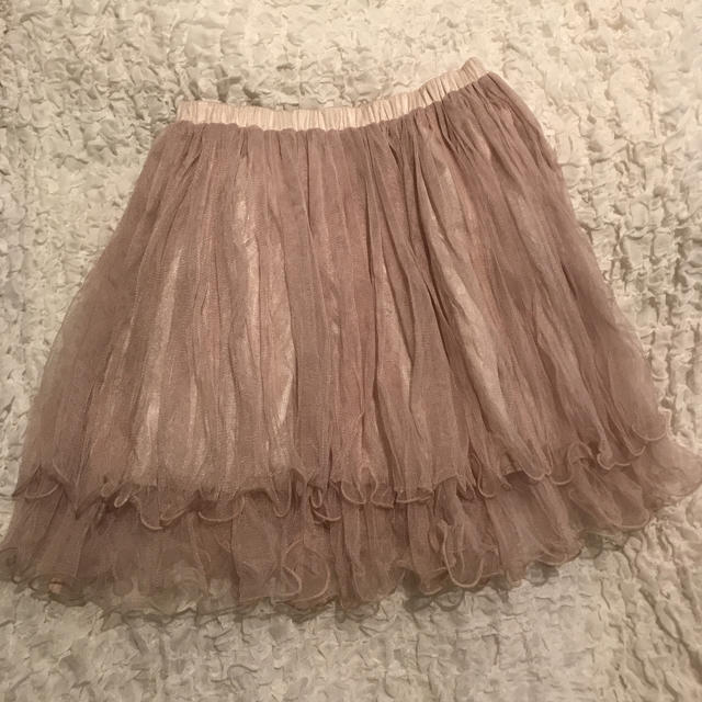 チュールスカート レディースのスカート(ひざ丈スカート)の商品写真