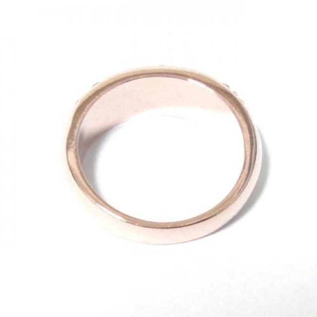 21号 スワロフスキー パヴェ ローズ ピンクゴールドリング レディースのアクセサリー(リング(指輪))の商品写真